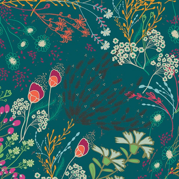 Art Gallery Meadow Bold in Rayon - Purchase in 25cm Increments