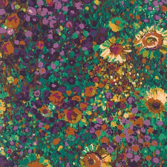 Painterly Petals by Robert Kaufman- Fat Quarter of SRKD-19148-196 HARVEST