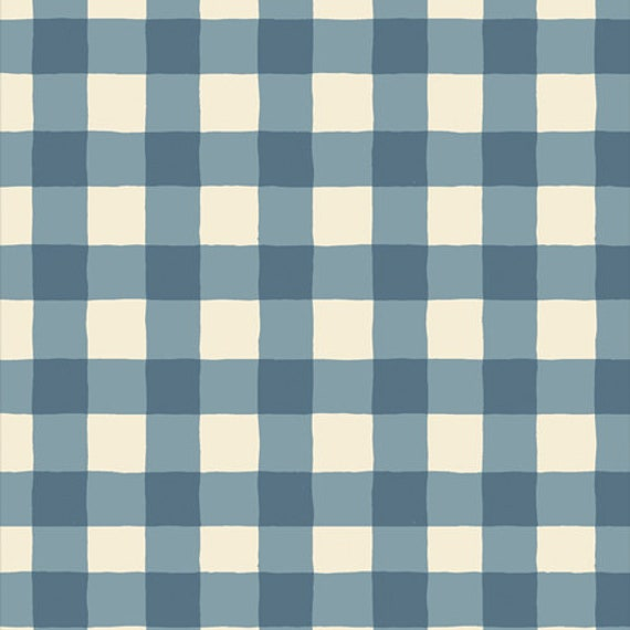 Art Gallery Plaid of My Dreams Sky in Flannel - Purchase in 25cm Increments