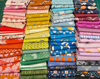 Fat 16th of various Ruby Star Society fabrics as shown in photo (72 in total) Rare OOP