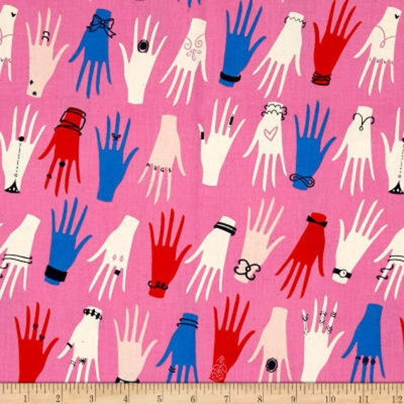 Beauty Shop -- Manicure in Pink by Melody Miller and Sarah Watts for Cotton and Steel