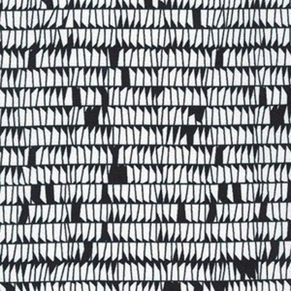 Carkai by Carolyn Friedlander -Dentals in Black - Fat Quarter