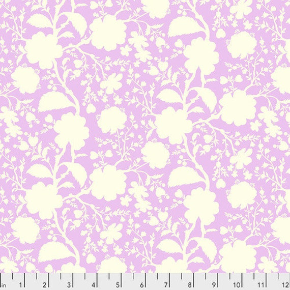 Fat Quarter Wildflower in Peony - Tula Pink's True Colors for Free Spirit Fabrics