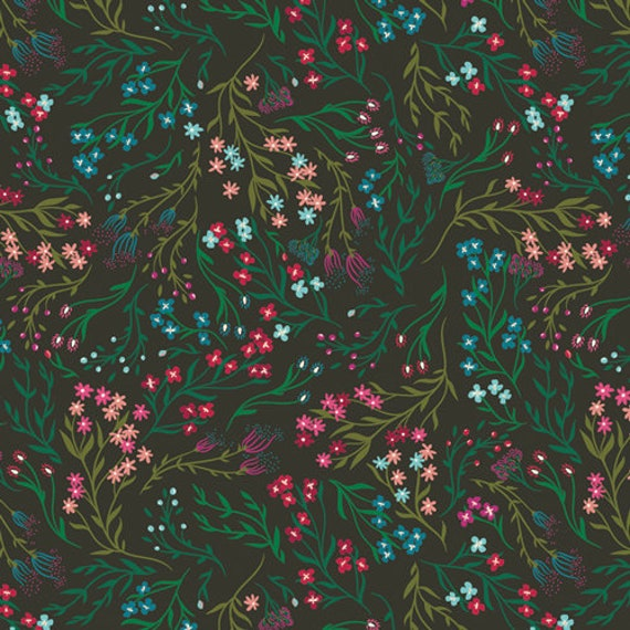 The Flower Society for Art Gallery Fabrics - Windswept Nocturnal - Fat Quarter