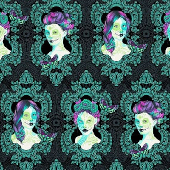 Fat Quarter Possessed in Spirit  - Tula Pink's De La Luna Fabric for Free Spirit Fabrics