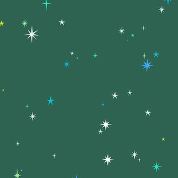 Andover Natural History by Lizzy House- Twinkle Twinkle in Hunter Green