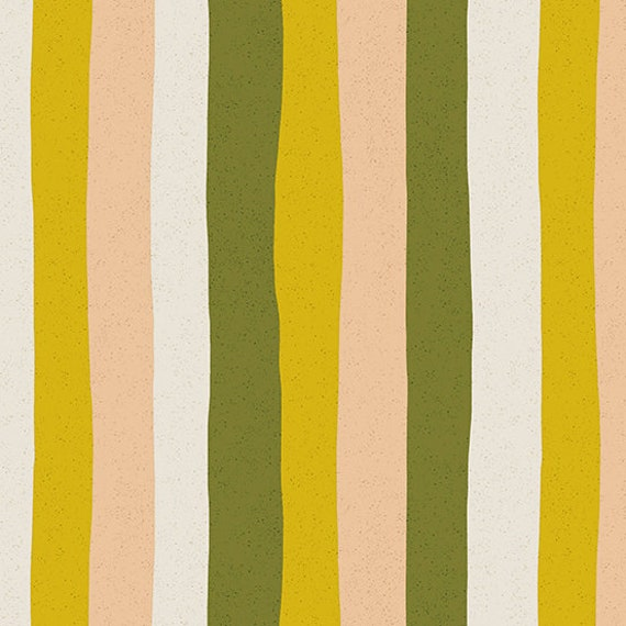 Perennial by Sarah Golden for Andover Fabrics - Fat Quarter of Stripes in Citrus