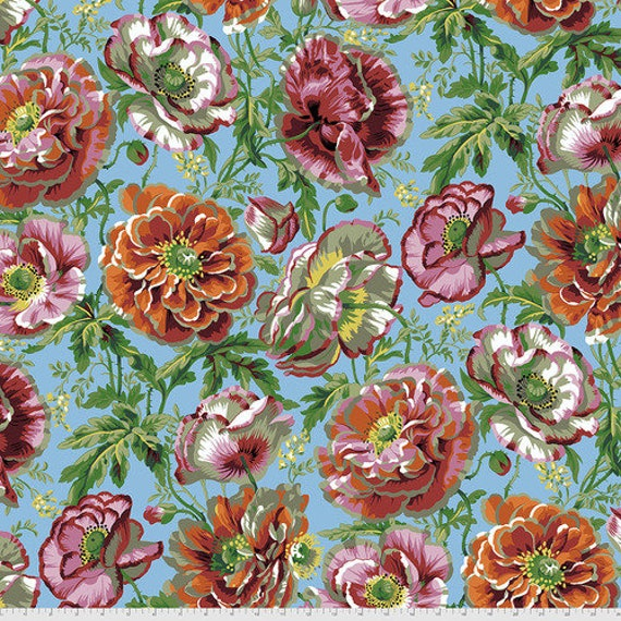 Kaffe Fassett Collective August 2021 -- Fat Quarter of Philip Jacobs Dorothy in Natural