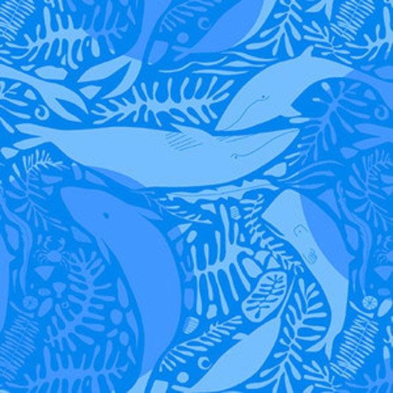 Andover Natural History by Lizzy House- Giants of the Deep in Blue
