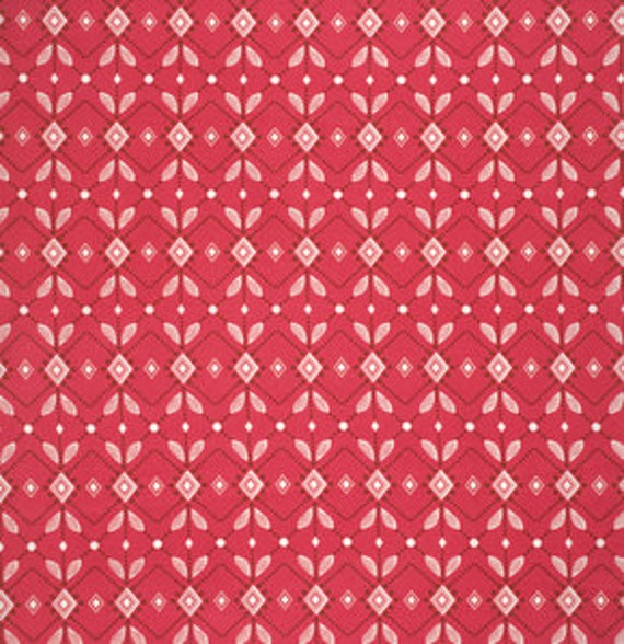 Folk Song by Anna Maria Horner for Free Spirit - Diamond Mine in Pomegranate Fat Quarter