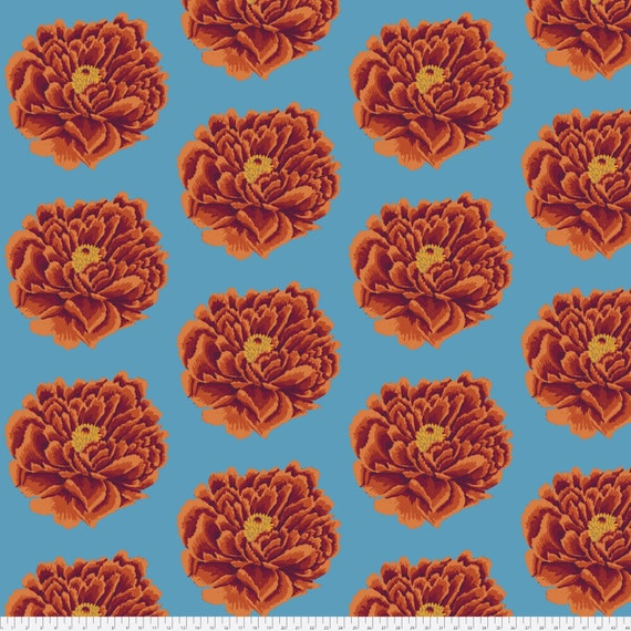 Kaffe Fassett Full Bloom in Red -- Wide Back 108 inches - 25 cm  increment