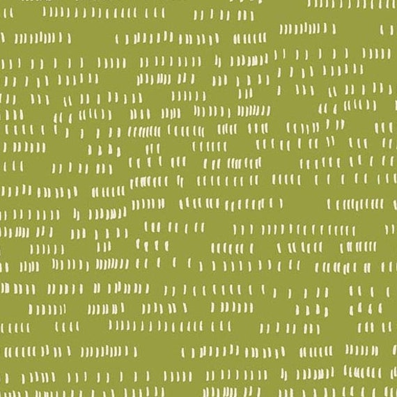 Home by Sarah Golden for Andover Fabrics - Fat Quarter of Dash in Moss - Cotton