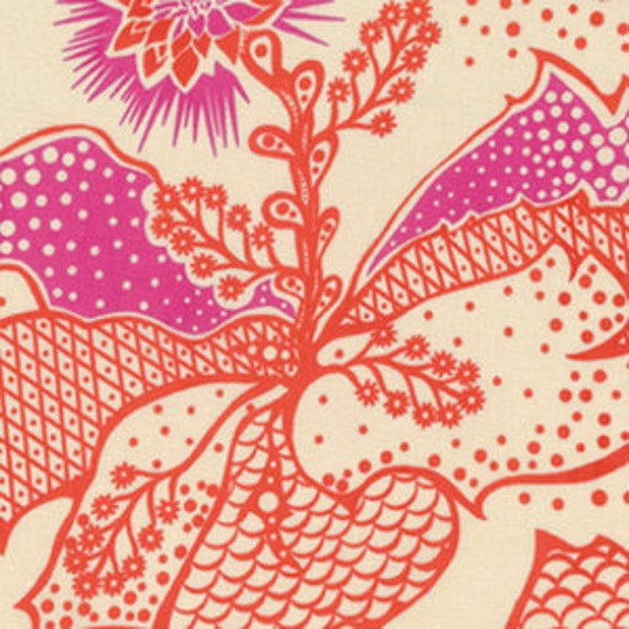 True Colors by Anna Maria Horner for Free Spirit - Filigree in Coral - Fat Quarter