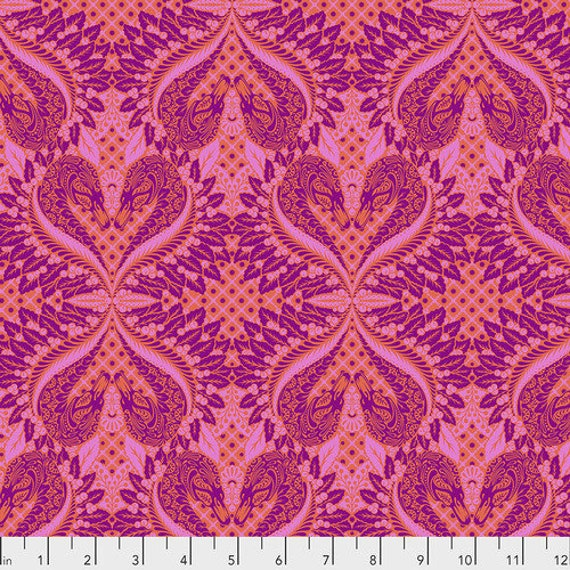 Fat Quarter Gate Keeper in Cotton Candy - Tula Pink's Pinkerville for Free Spirit Fabrics
