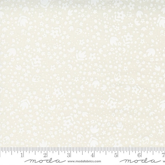 Songbook--  Folk Floral in Dove (45527 11) by Fancy that Design House for Moda -- Fat Quarter