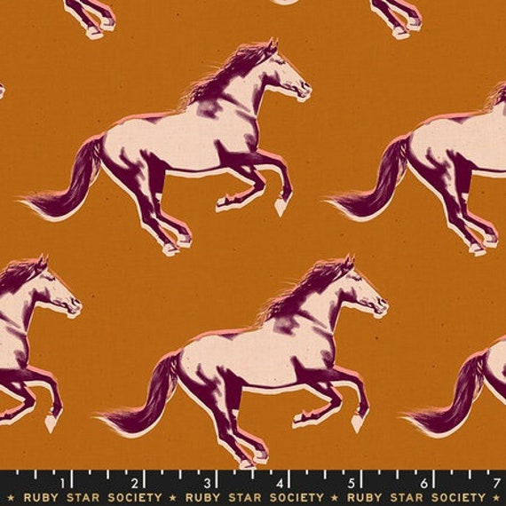 Darlings -- Broncos in Saddle (RS5013-16) by Ruby Star Society for Moda -- Fat Quarter