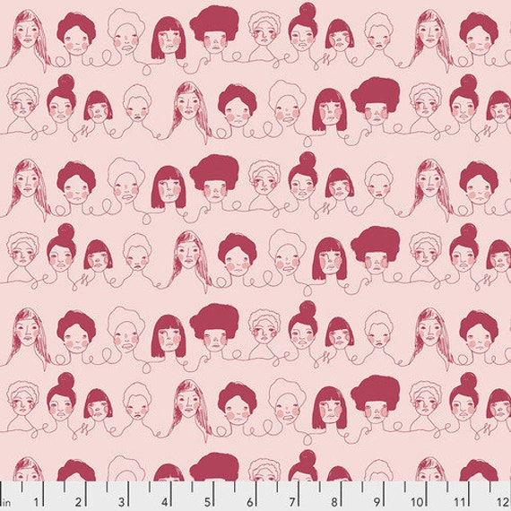 Long Distance by Courtney Cerruti for Anna Maria Horner Conservatory with Free Spirit Fabrics - Fat Quarter of Penpals in Latte
