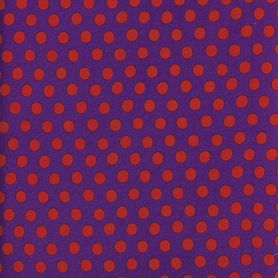 Kaffe Fassett -- Fat Quarter of Spots in Purple
