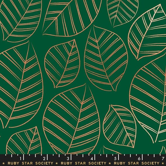 Aviary -- Leafy in Jade (RS5003-15M) by Ruby Star Society for Moda -- Fat Quarter