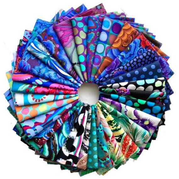August 2020 Kaffe Fassett Collective - Fat Quarter Bundle of 30 Cool Fabrics