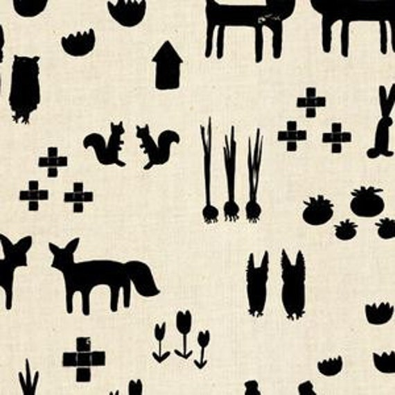 In Stock! Printshop This and That in Black by Alexia Marcell Abegg for Cotton and Steel
