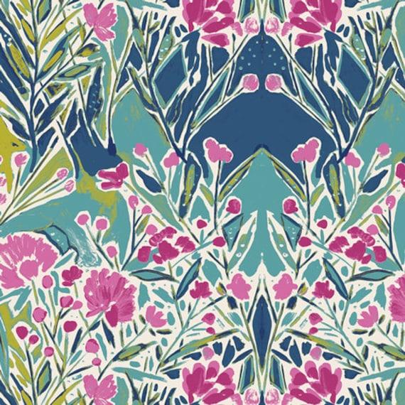 Bloomsbury by Bari J for Art Gallery Fabrics -  Fat Quarter of Ms Woolf Calmwater