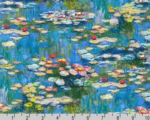 Claude Monet - Water Lilies from Robert Kaufman Fabric - Fat quarter