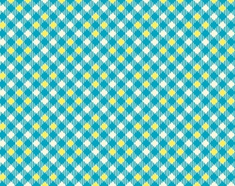 Five and Ten by Denyse Schmidt for Windham Fabrics -- Fat Quarter of Pixy Plaid in Blue (52487-4)