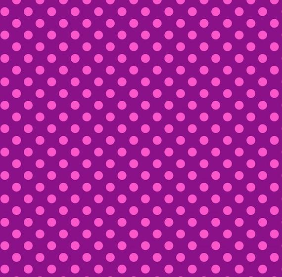 Fat Quarter Pom Poms in Foxglove - Tula Pink's All Stars Fabric for Free Spirit Fabrics
