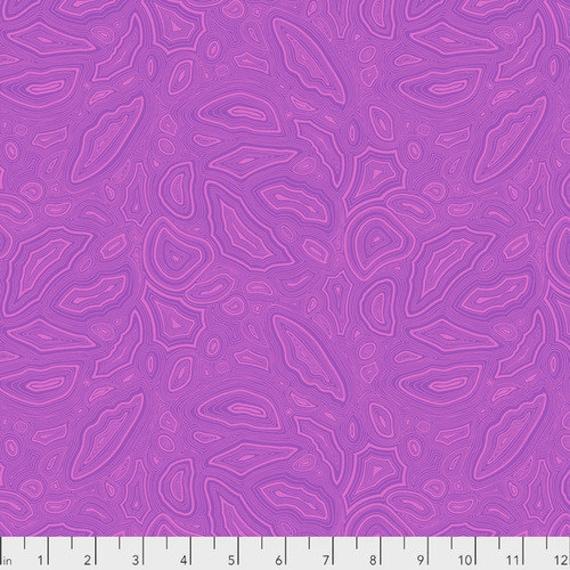 Fat Quarter Mineral in Tourmaline - Tula Pink's True Colors for Free Spirit Fabrics