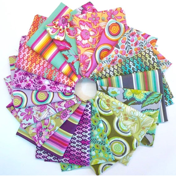 Chipper Fat Quarter Bundle of 18 by Tula Pink for Free Spirit Fabrics