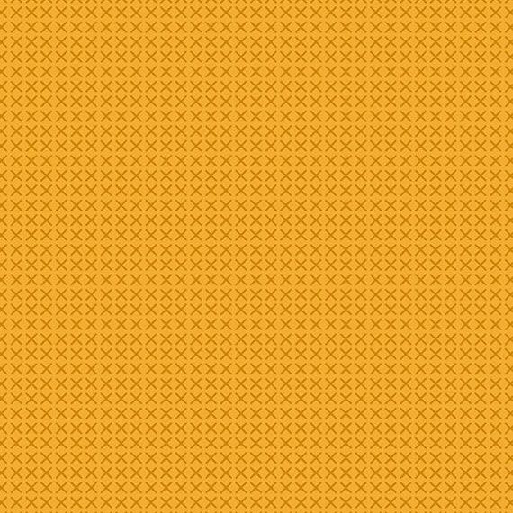 Cross Stitch by Alison Glass -- Fat quarter of Cross Stitch in Mustard - A9254-Y2