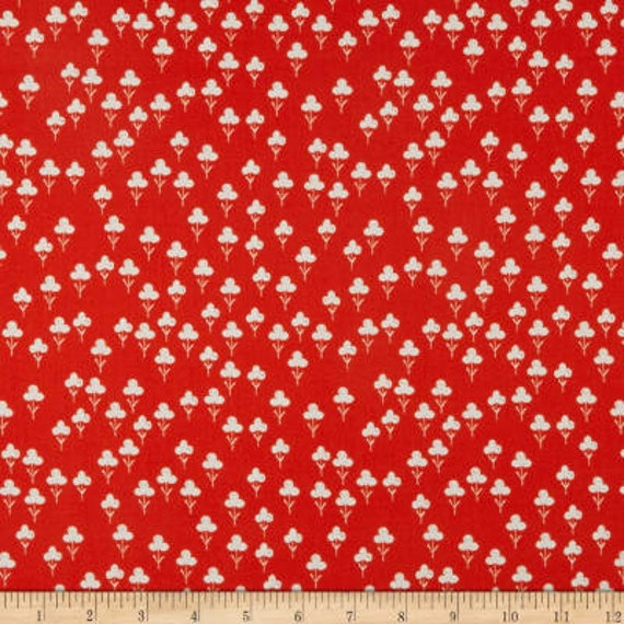 Front Yard -- Clovers in Red by Sarah Watts for Cotton and Steel