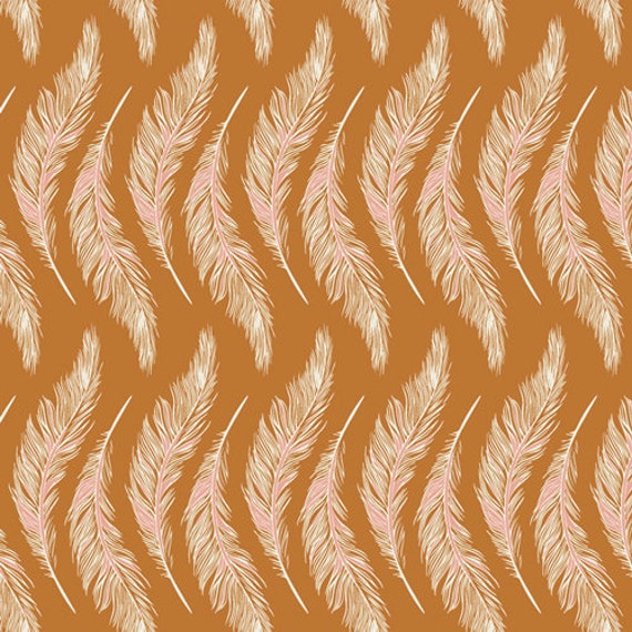 Homebody by Maureen Cracknell for Art Gallery Fabrics - Presently Plumes Gold
