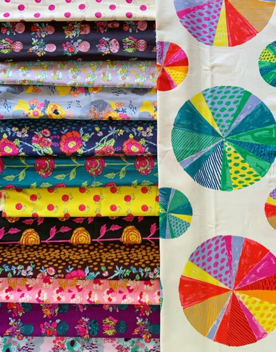 Flower Shop by Courtney Cerruti for Anna Maria Horner Conservatory 4 with Free Spirit Fabrics - Fat Quarter Bundle of 13 Prints