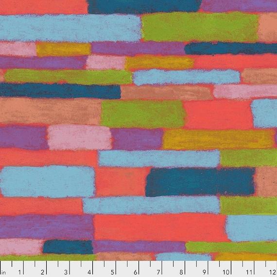 Keiko Goke's Wonderland for Free Spirit Fabrics -- Fat Quarter of Bricks in Multi