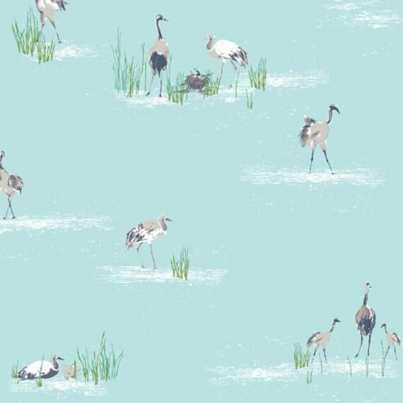 Floralish by Katarina Roccella for Art Gallery Fabrics -  Wandering Cranes - Fat Quarter