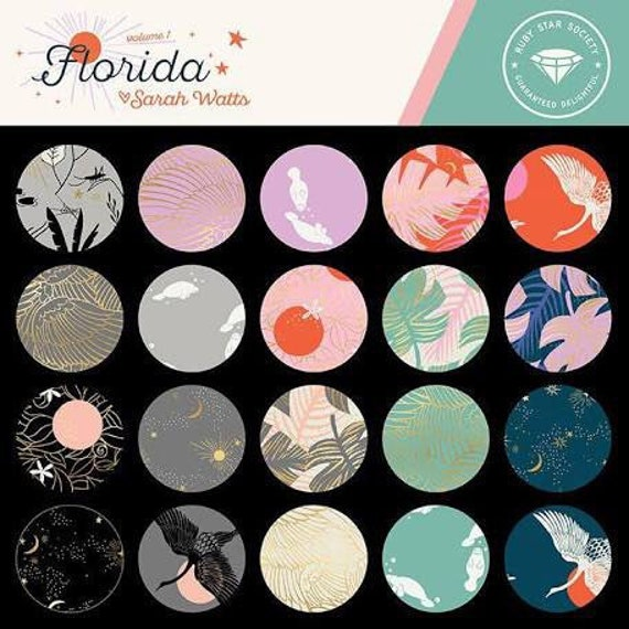 Preorder Fat Quarter Bundle of Florida by Ruby Star Society Fabrics in Ho — 23 prints in total