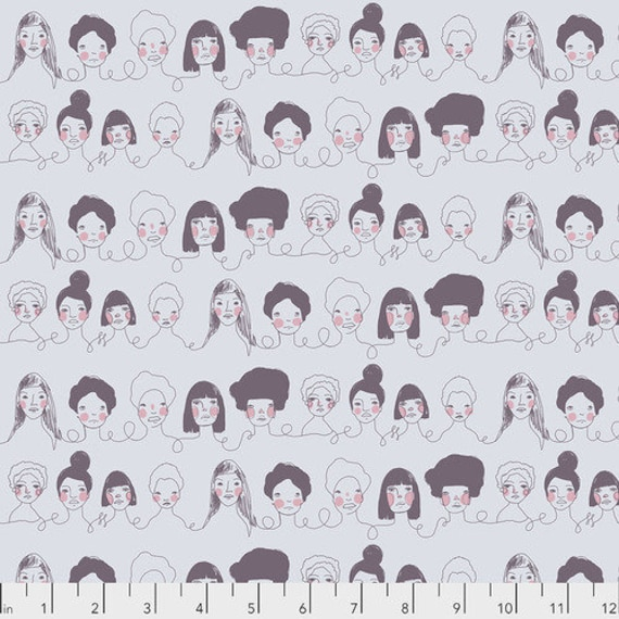 Long Distance by Courtney Cerruti for Anna Maria Horner Conservatory with Free Spirit Fabrics - Fat Quarter of Penpals in Gray