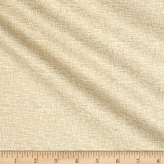 Moda Modern Backgrounds Luster Metallic Grid in Natural by Zen Chic -- Fat Quarter