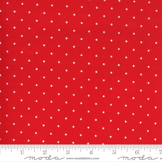 Sunday Stroll -- Sweet Dot in Red (55226 12) by Bonnie and Camille for Moda -- Fat Quarter