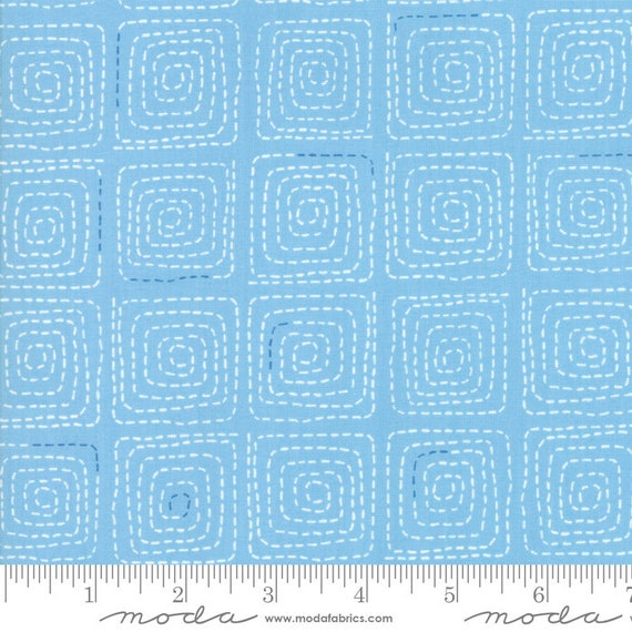 Breeze -- Stitched in Sky (1693 14) by Zen Chic for Moda -- Fat Quarter