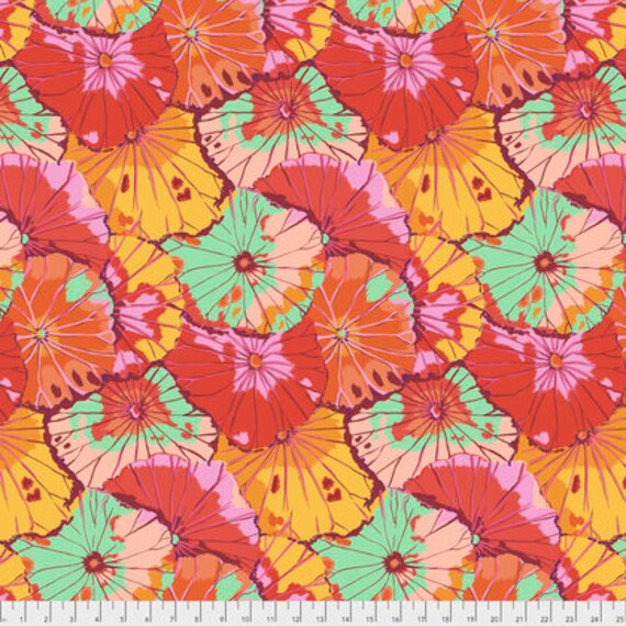 Spring 2018 Kaffe Fassett Collective  -- Fat Quarter of Lotus Leaf in Citrus