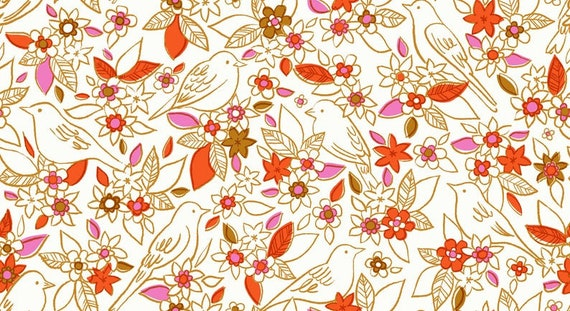 Aviary -- Botanical in Ivory (RS5001-11) by Ruby Star Society for Moda -- Fat Quarter