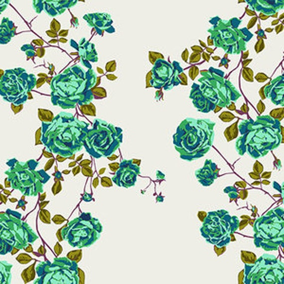 Floral Retrospective by Anna Horner for Free Spirit Fabrics - Social Climber in Lichen