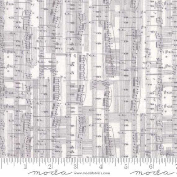Moda Compositions Notes in Fog (3045214) by Zen Chic -- Fat Quarter