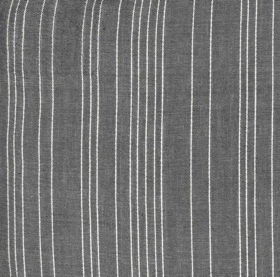 Moda Low Volume Wovens Wide Silver Base Stripe by Jen Kingwell -- Fat Quarter