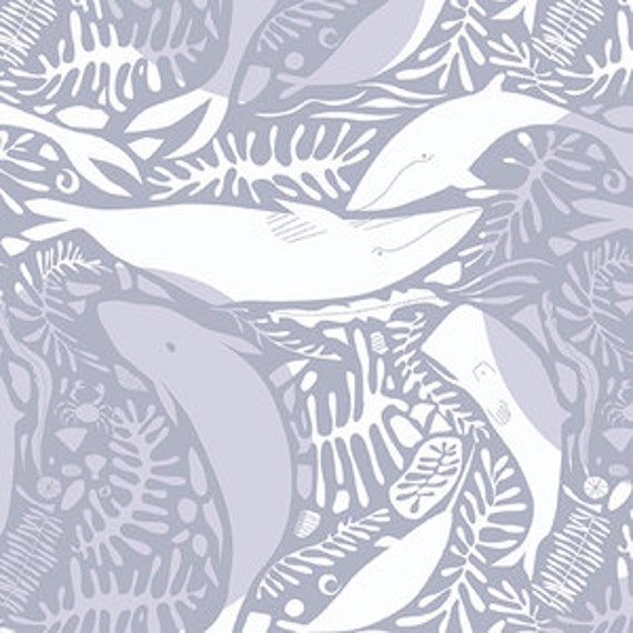 Andover Natural History by Lizzy House- Giants of the Deep in Grey