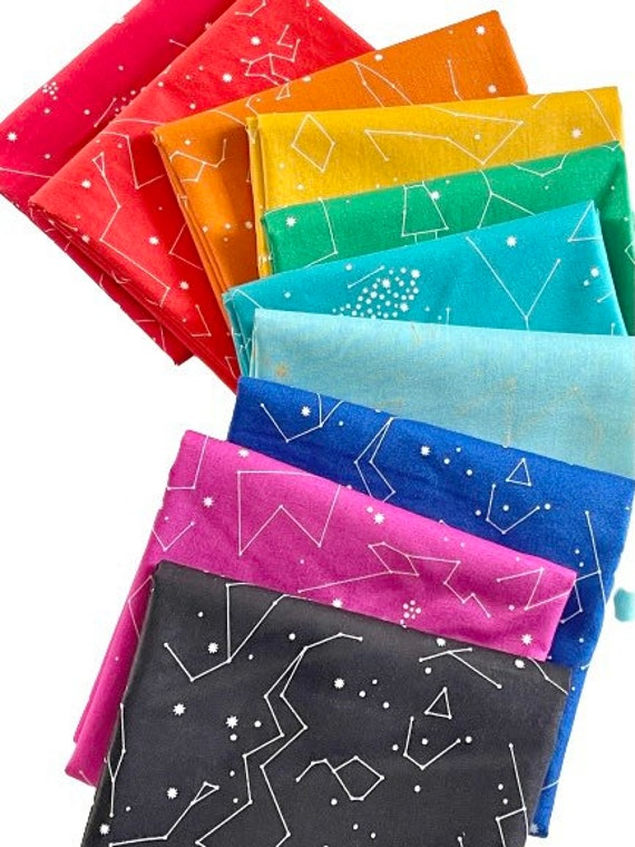 Andover Constellations by Lizzy House - Fat Quarter Bundle as Shown in Photo