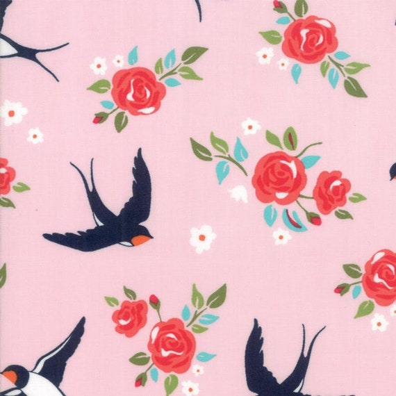 Moda Rosa Carry My Soul in Pink (11822114) by Crystal Manning -- Fat Quarter
